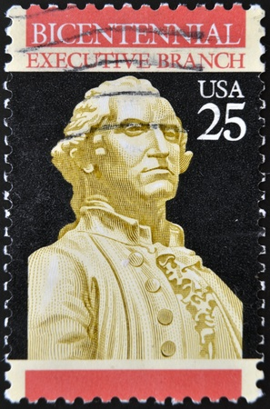 USA - CIRCA 1989: A stamp printed in the USA, dedicated to the 200th anniversary of the Constitution, shows George Washington, circa 1989