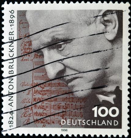anton: GERMANY - CIRCA 1996  a stamp printed in Germany shows Anton Bruckner, circa 1996