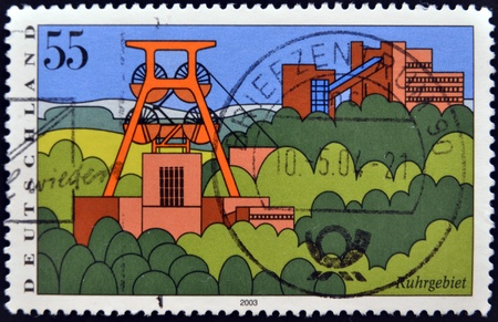 browncoal: GERMANY- CIRCA 2003  stamp printed in Germany, shows Scenic Regions in Germany, Ruhr Region, circa 2003