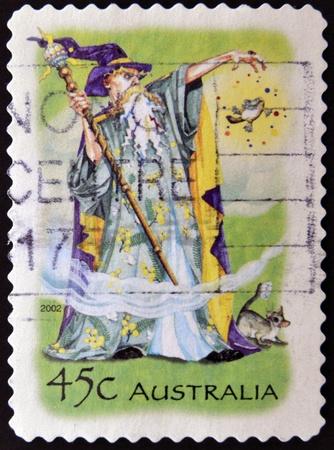 AUSTRALIA - CIRCA 2002  stamp printed in Australia shows Wizard, circa 2002  photo