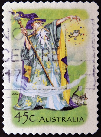 druid: AUSTRALIA - CIRCA 2002  stamp printed in Australia shows Wizard, circa 2002