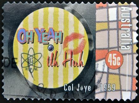 huh: AUSTRALIA - CIRCA 1998: A stamp printed in Australia dedicated to Col Joye, circa 1998