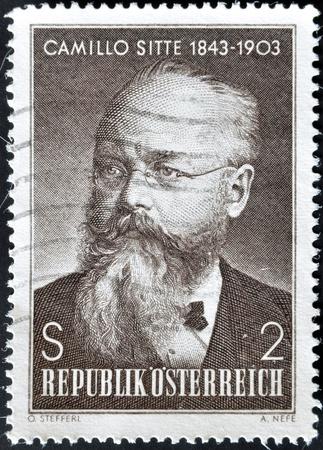 camillo: AUSTRIA - CIRCA 2003: A stamp printed in austria shows Camillo Sitte, circa 2003