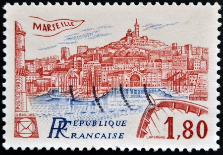 FRANCE - CIRCA 1983: A stamp printed in France shows Marseilles, circa 1983 photo