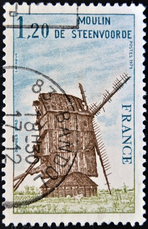 FRANCE - CIRCA 1979  A stamp printed in France shows Mill Steenvoorde, circa 1979 photo