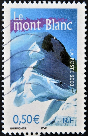 FRANCE - CIRCA 2003  A stamp printed in France shows mont blanc, circa 2003 photo