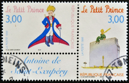 prince: FRANCE - CIRCA 1998  A stamp printed in France shows the little prince, circa 1998
