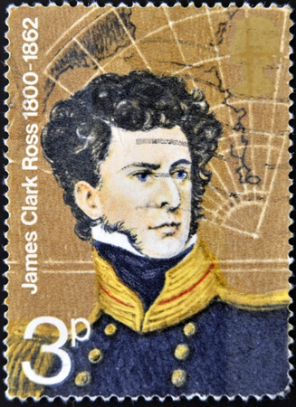 UNITED KINGDOM - CIRCA 1972  A stamp printed in Great Britain shows James Clark Ross, circa 1972  Stock Photo - 12971554