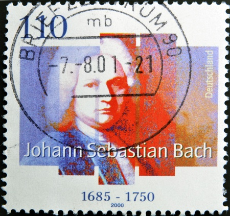 bundes: GERMANY - CIRCA 2000: A Stamp printed in the Germany shows portrait of the composer Johann Sebastian Bach, circa 2000.