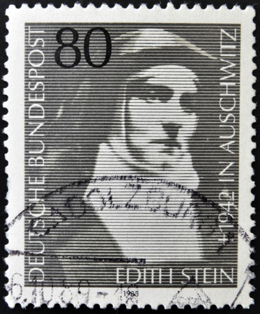 carmelite nun: GERMANY - CIRCA 1983: A stamp printed in Germany shows Edith Stein, circa 1983 Editorial
