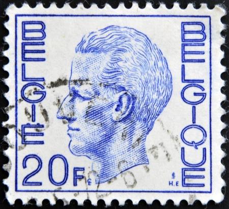 baudouin: BELGIUM - CIRCA 1980: A Stamp printed in Belgium shows the portrait of a Baudouin I, circa 1980  Editorial