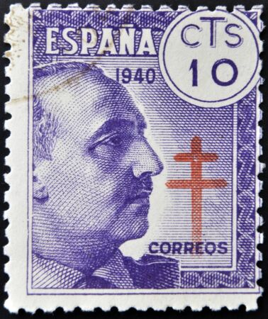 SPAIN - CIRCA 1940: stamp printed by Spain, shows Francisco Franco, circa 1940