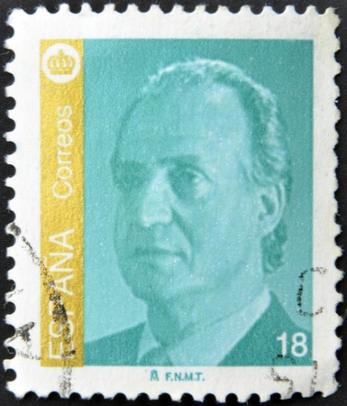 SPAIN - CIRCA 1985: A stamp printed in Spain shows the King of Spain Juan Carlos I, circa 1985.  Stock Photo - 13289038