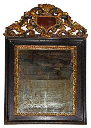 tarnish: Antique mirror Stock Photo