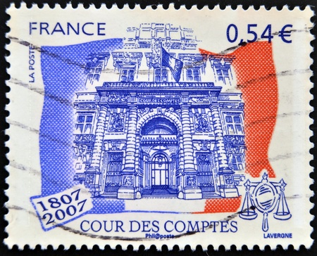 FRANCE - CIRCA 2007: A stamp printed in France shows Court of Accounts, circa 2007 Stock Photo - 13291953