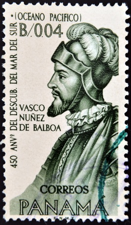 PANAMA - CIRCA 1963: A stamp printed in Panama shows Vasco Nuñez de Balboa, circa 1963 Stock Photo - 13289206