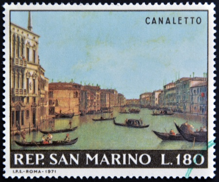SAN MARINO - CIRCA 1971: A stamp printed in San Marino shows