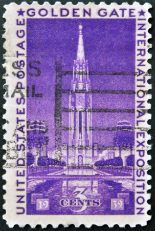 UNITED STATES - CIRCA 1939: A stamp printed in USA dedicated to Golden Gate International Exposition, circa 1939  photo