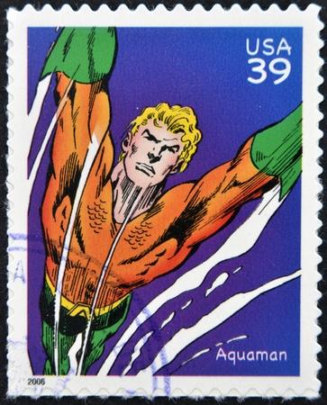 アメリカ合衆国 - 2006 年頃: 切手が 2006 年頃のアメリカ ショー、アクアマンに印刷されました。