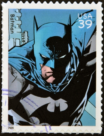 marvel: UNITED STATES OF AMERICA - CIRCA 2006: stamp printed in USA shows Batman, circa 2006