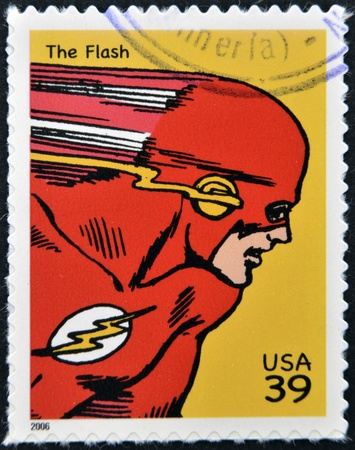 VERENIGDE STATEN VAN AMERIKA - CIRCA 2006: stempel gedrukt in de Verenigde Staten toont aan Flash, circa 2006 Redactioneel
