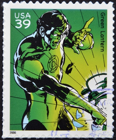 episode: UNITED STATES OF AMERICA - CIRCA 2006: stamp printed in USA shows Green Lantern, circa 2006