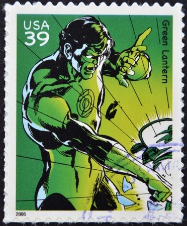UNITED STATES OF AMERICA - CIRCA 2006: stamp printed in USA shows Green Lantern, circa 2006  Stock Photo - 13289411