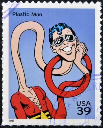 UNITED STATES OF AMERICA - CIRCA 2006: stamp printed in USA shows Plastic Man, circa 2006