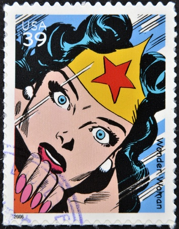 UNITED STATES OF AMERICA - CIRCA 2006: stamp printed in USA shows Wonder Woman, circa 2006  Stock Photo - 13289414
