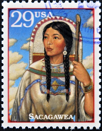 UNITED STATES OF AMERICA - CIRCA 1994 : Stamp printed in USA show Sacagawea, circa 1994