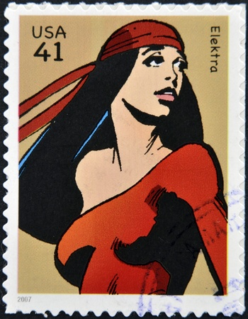 UNITED STATES OF AMERICA - CIRCA 2007: stamp printed in USA shows Elektra, circa 2007  Stock Photo - 13289398