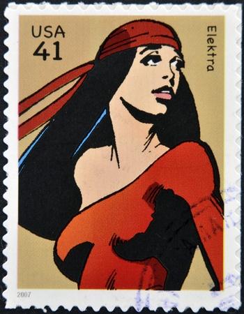 UNITED STATES OF AMERICA - CIRCA 2007: stamp printed in USA shows Elektra, circa 2007  Stock Photo - 13289398