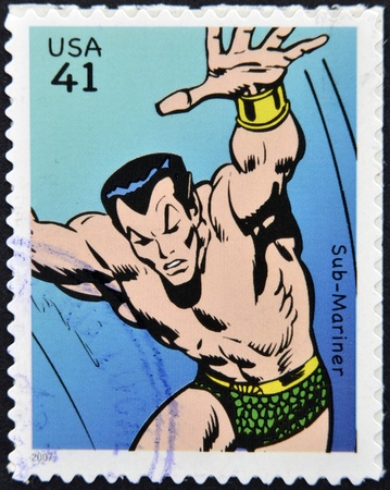 UNITED STATES OF AMERICA - CIRCA 2007: stamp printed in USA shows Sub-Mariner, circa 2007  Stock Photo - 13289417