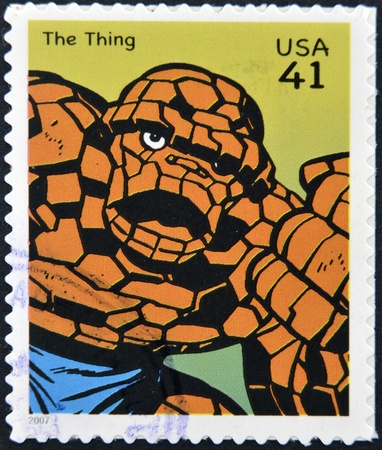 UNITED STATES OF AMERICA - CIRCA 2007: stamp printed in USA shows The Thing, circa 2007