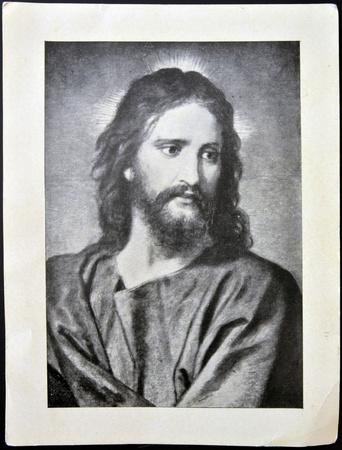 スペイン - 1950 年 CIRCA: 1950 年 circa イエス ・ キリストのスペイン ショー顔で印刷はがき