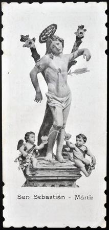 martyr: SPAIN - CIRCA 1908: An old postcard printed in Spain shows San Sebastian, circa 1908 Editorial
