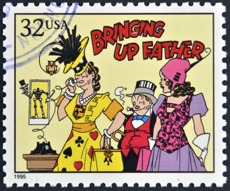 UNITED STATES OF AMERICA - CIRCA 1995: A stamp printed in USA dedicated to comic strip classics, shows Bringing up father, circa 1995