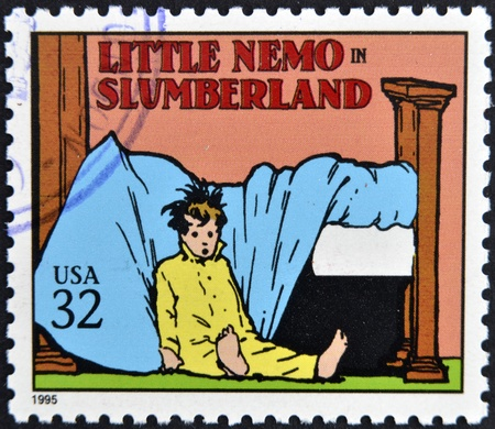 UNITED STATES OF AMERICA - CIRCA 1995: A stamp printed in USA dedicated to comic strip classics, shows Little Nemo in Slumberland, circa 1995  Stock Photo - 13323016