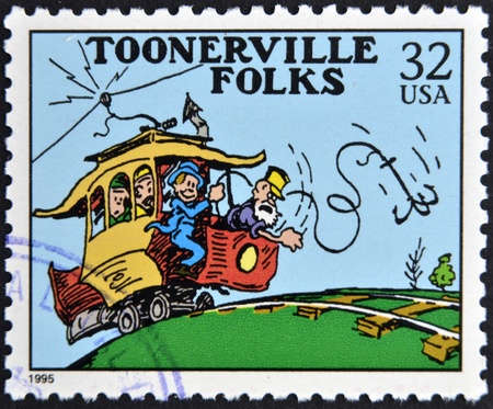 UNITED STATES OF AMERICA - CIRCA 1995: A stamp printed in USA dedicated to comic strip classics, shows Toonerville folks, circa 1995