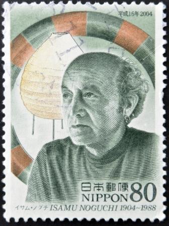 JAPAN - CIRCA 2004: A stamp printed in Japan shows Isamu Noguchi, circa 2004 photo