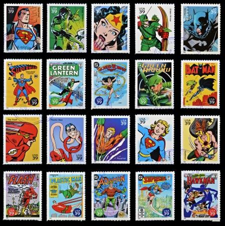 TATS-UNIS D'AMÉRIQUE - CIRCA 2006: collection de timbres imprimés aux Etats-Unis montre de super-héros comique, 2006 circa Banque d'images - 26255641
