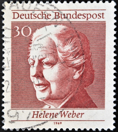 weber: GERMANY - CIRCA 1969: A stamp printed in Germany shows Helene Weber, circa 1969 Editorial