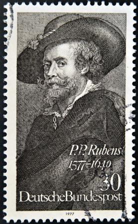 GERMANY - CIRCA 1977: stamp printed in Germany shows Peter Paul Rubens , circa 1977