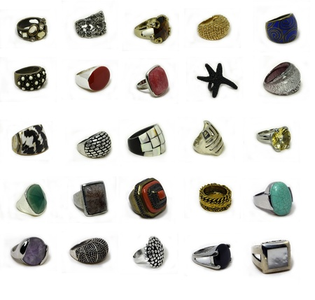 collection of women's rings photo
