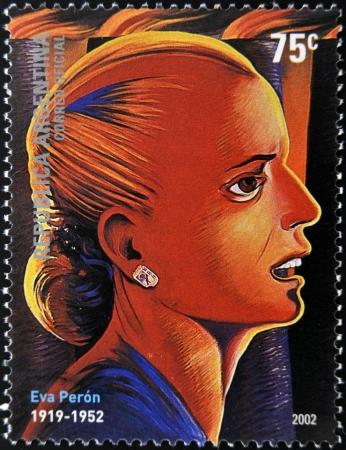 evita: ARGENTINA - CIRCA 2002: a stamps printed in Argentina shows Evita Peron, circa 2002