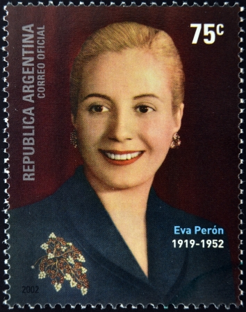 アルゼンチン - 年頃 2002年: 印刷スタンプ アルゼンチン年頃 2002年エヴィータ ・ ペロンを示しています