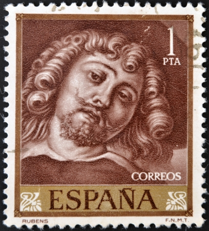 SPAIN - CIRCA 1962: A stamp printed in Spain shows Rubens, circa 1962