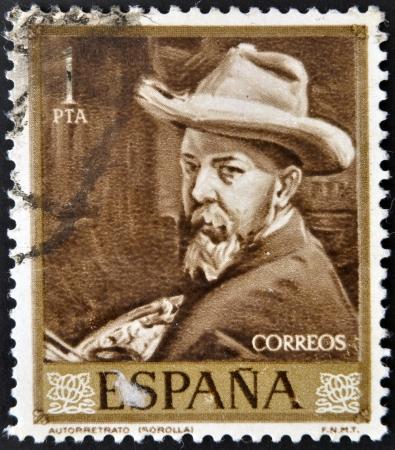 sorolla: SPAIN - CIRCA 1964: A stamp printed in spain shows Sorolla, circa 1964