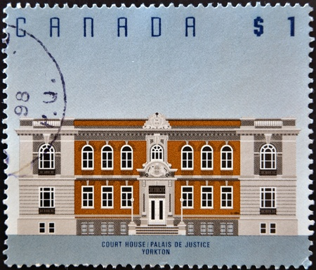 CANADA - CIRCA 1994: stamp printed in Canada shows Court House, Yorkton, circa 1994