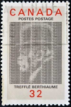 CANADA - CIRCA 1984: stamp printed in Canada shows Treffle Berthiaume, circa 1984